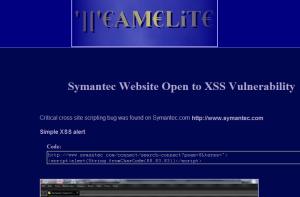 XSS chez Symantec ?