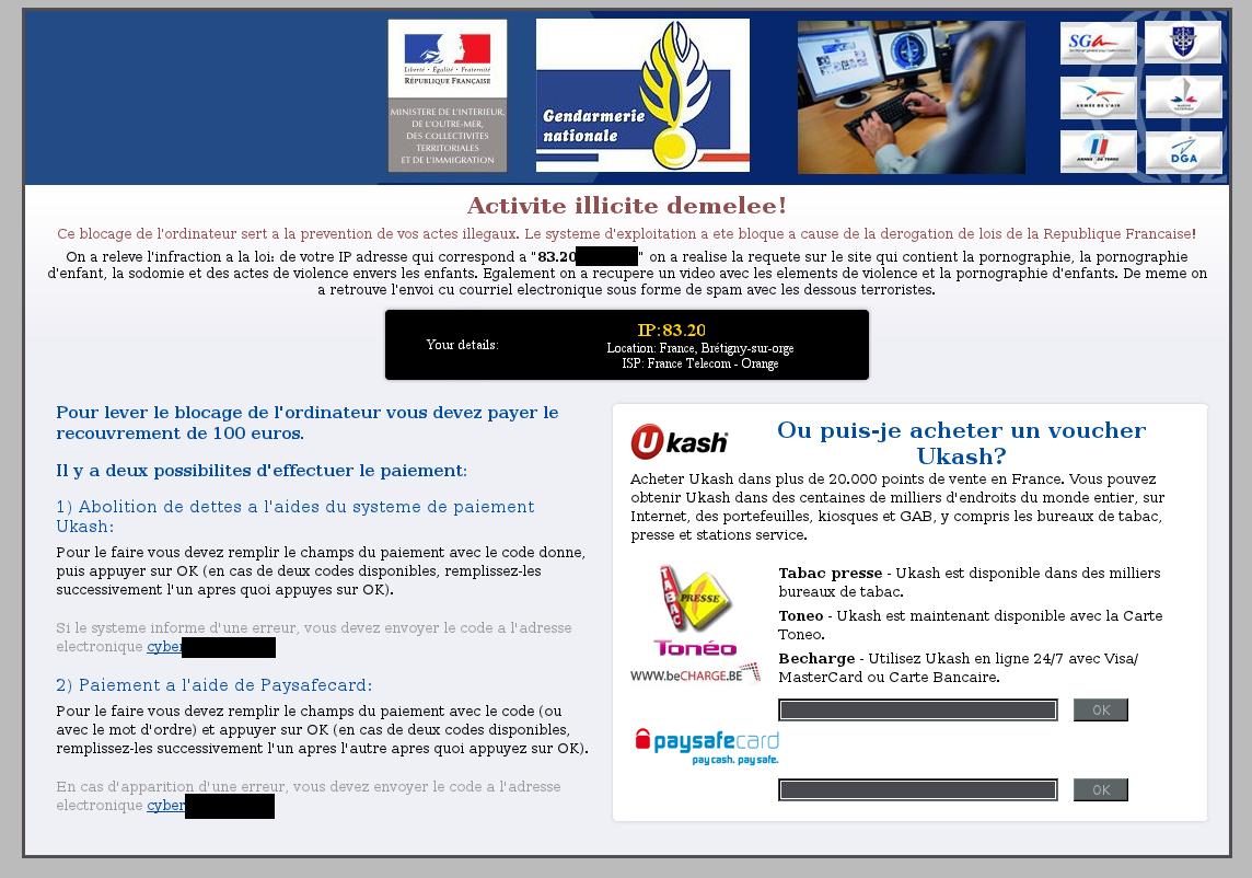 b68a7806a90ad0 Le virus « Gendarmerie – Bilan de la semaine   «Criminalités numériques